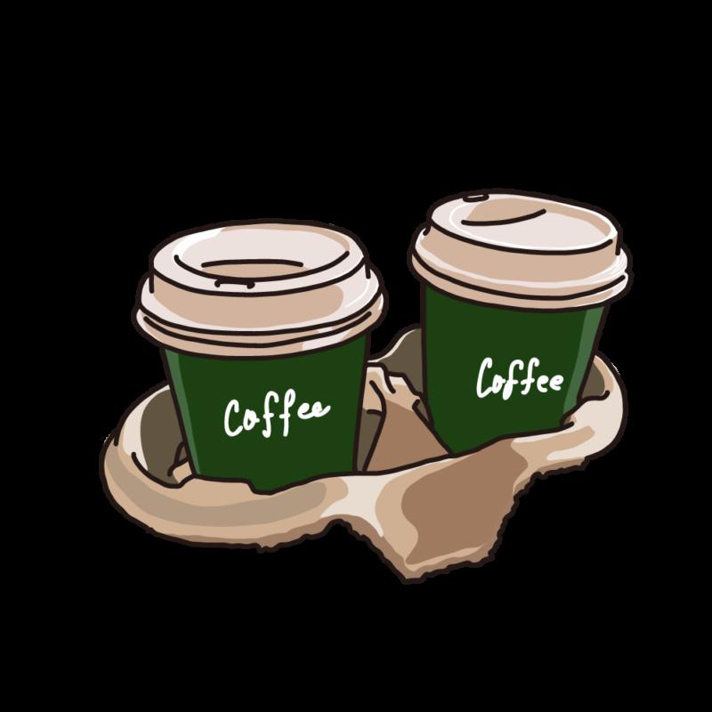 テイクアウトパックコーヒーグリーン