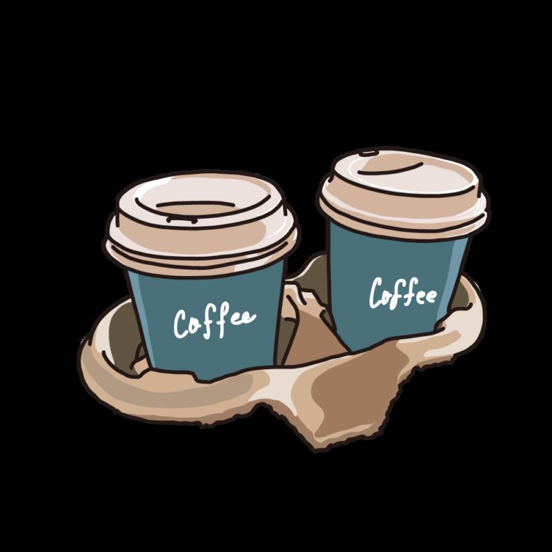 テイクアウトパックコーヒーブルー