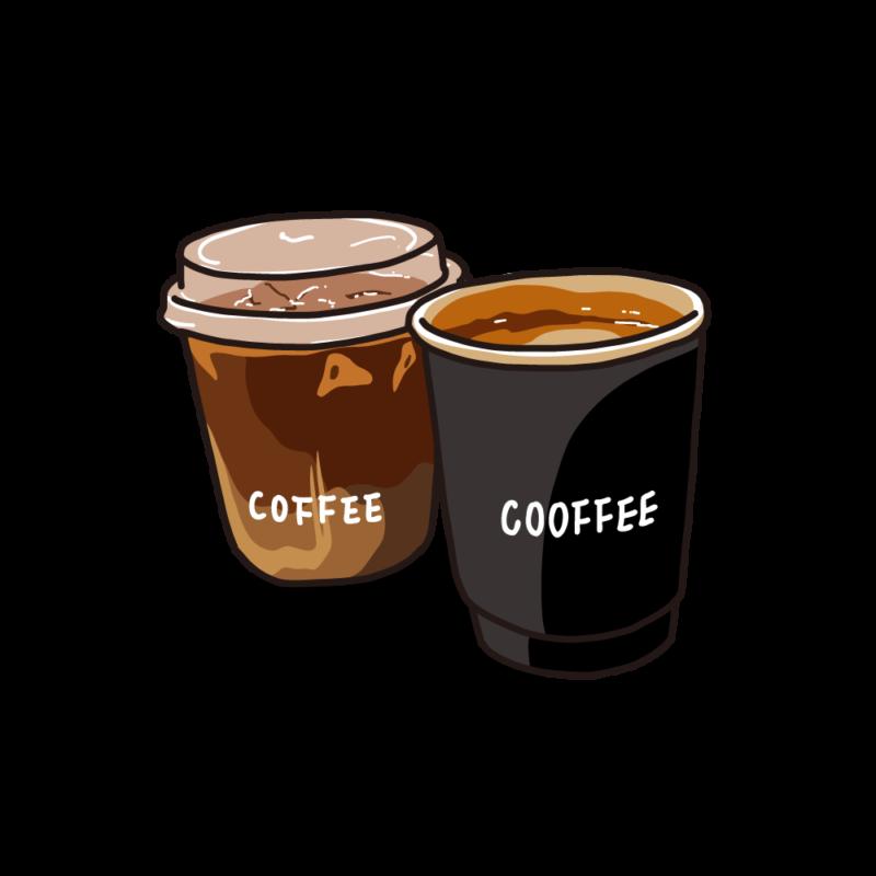アイスとホットコーヒーブラック