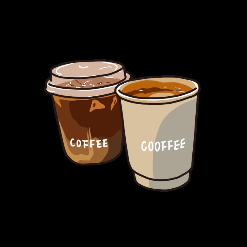 アイスとホットコーヒーサンド