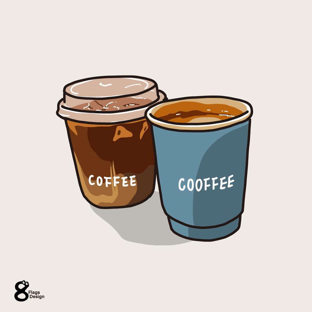 アイスとホットコーヒーのキャッチ画像