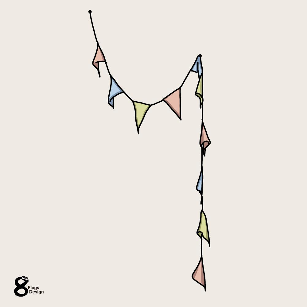 三角のガーランドのキャッチ画像