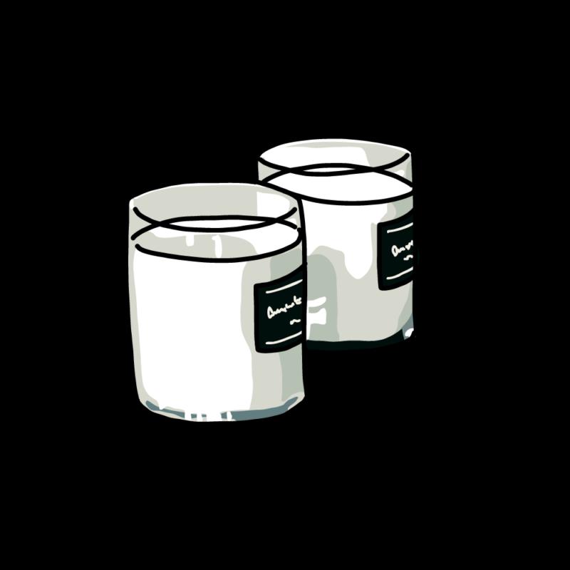 アロマキャンドル2個ホワイト