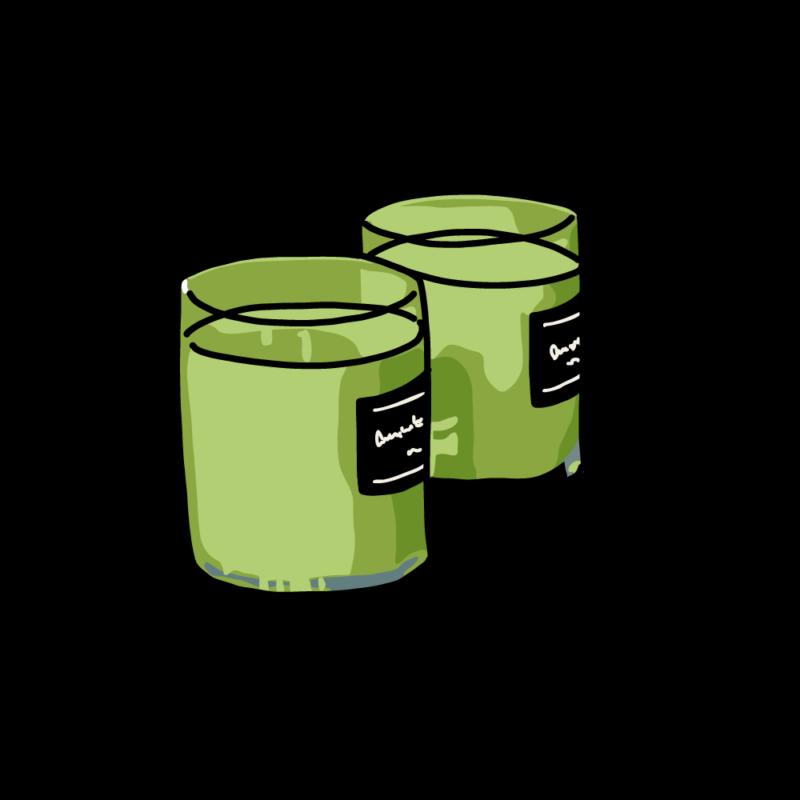 アロマキャンドル2個グリーン