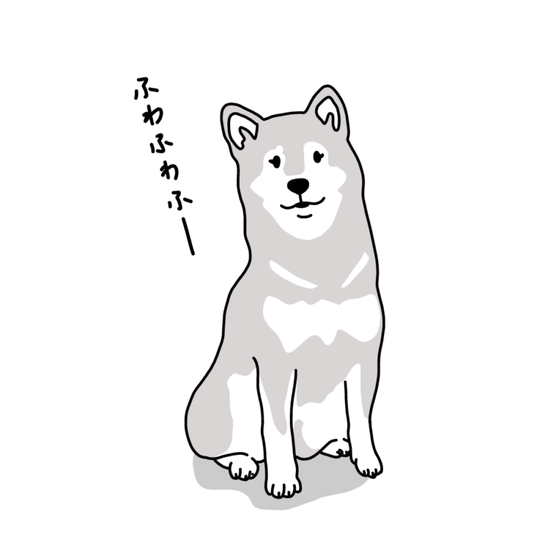 フワフワ柴犬グレー