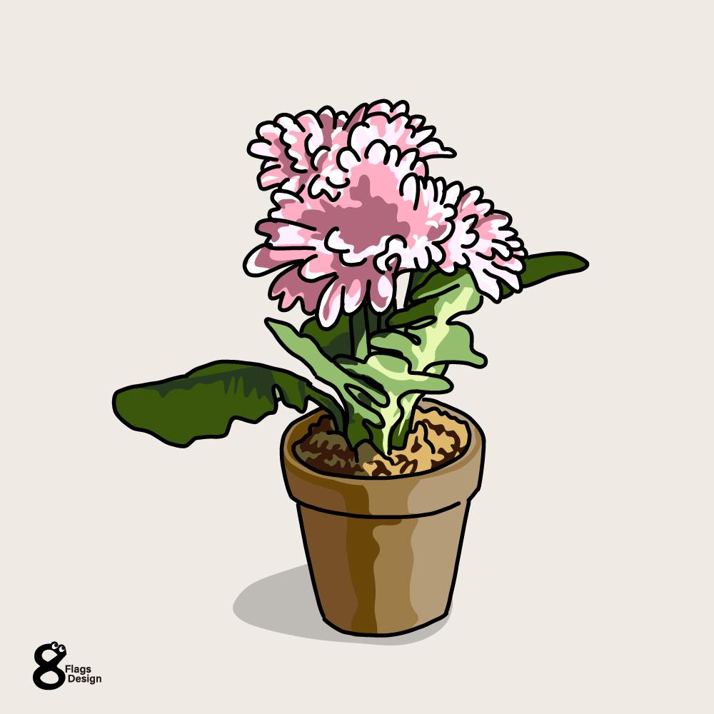 春の花の鉢のキャッチ画像