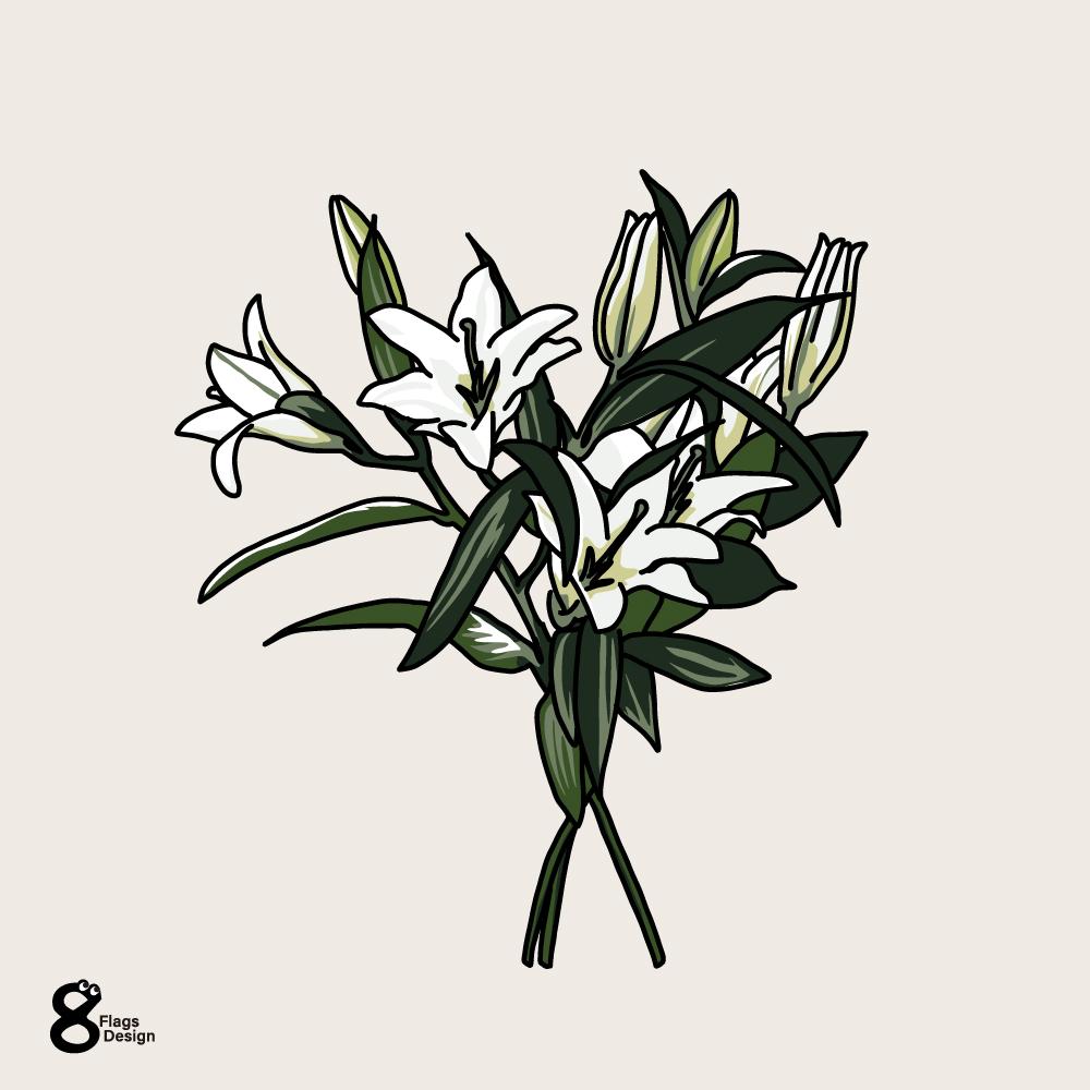 ユリの花のキャッチ画像