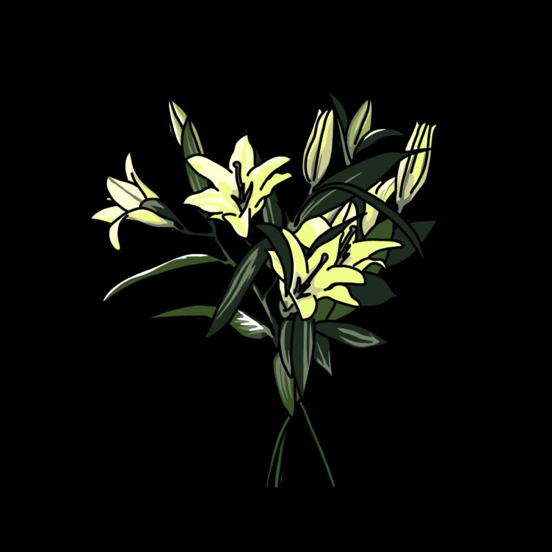 ユリの花イエロー