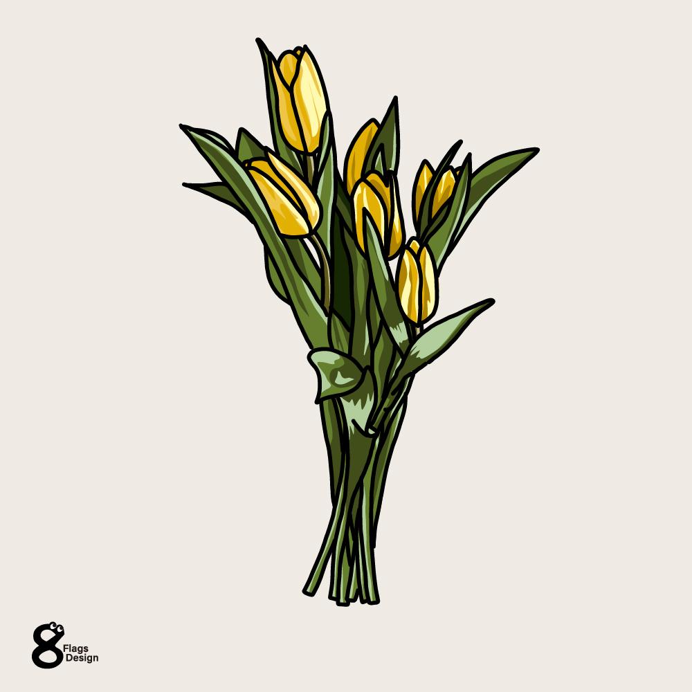チューリップの花束のキャッチ画像