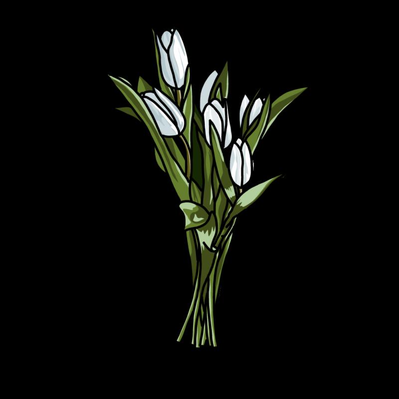 チューリップの花束白