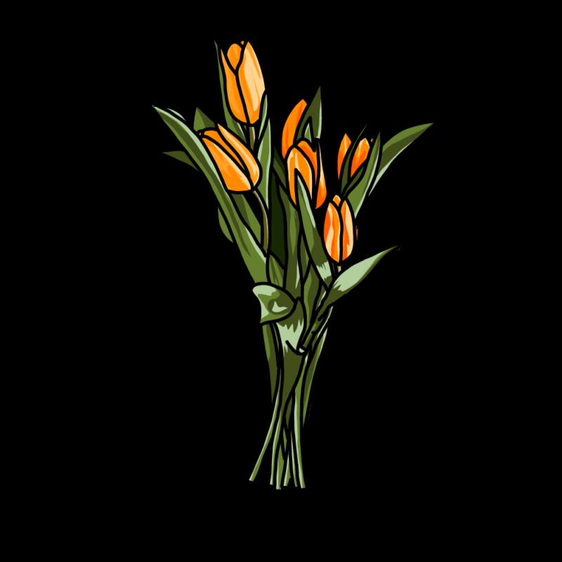 チューリップの花束オレンジ