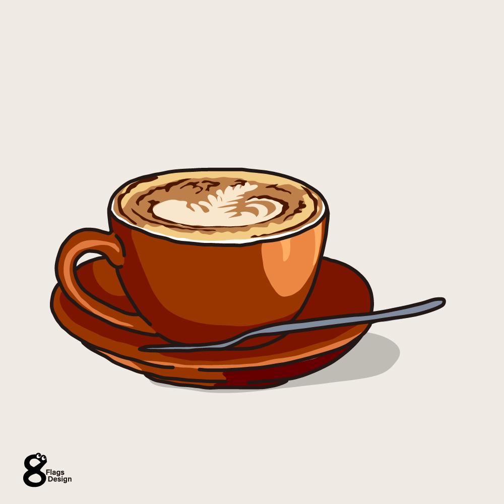 ラテアートのカップのキャッチ画像