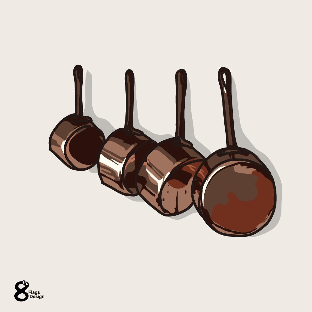 銅鍋のセットのキャッチ画像