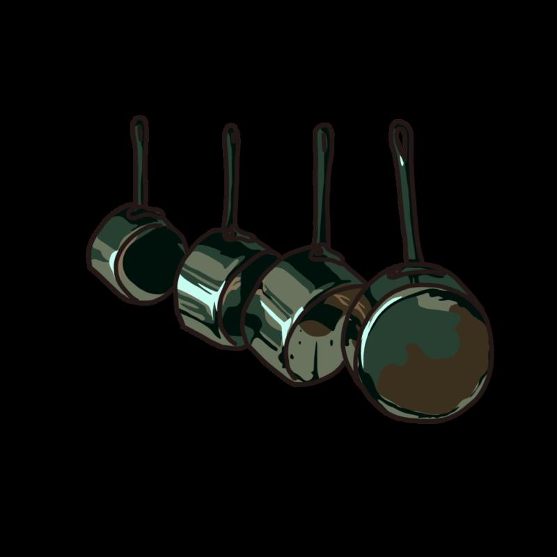 銅鍋のセット鉄