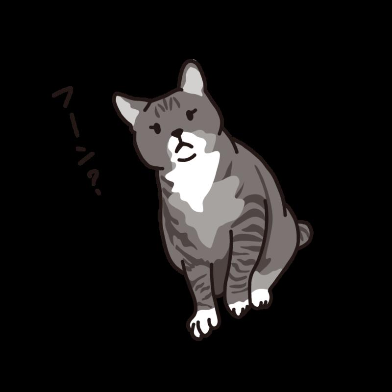 構って欲しいネコモノクロ
