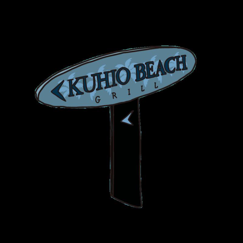 クヒオビーチの看板02