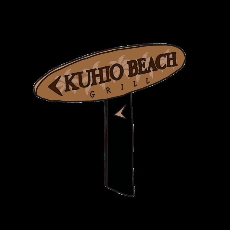 クヒオビーチの看板03
