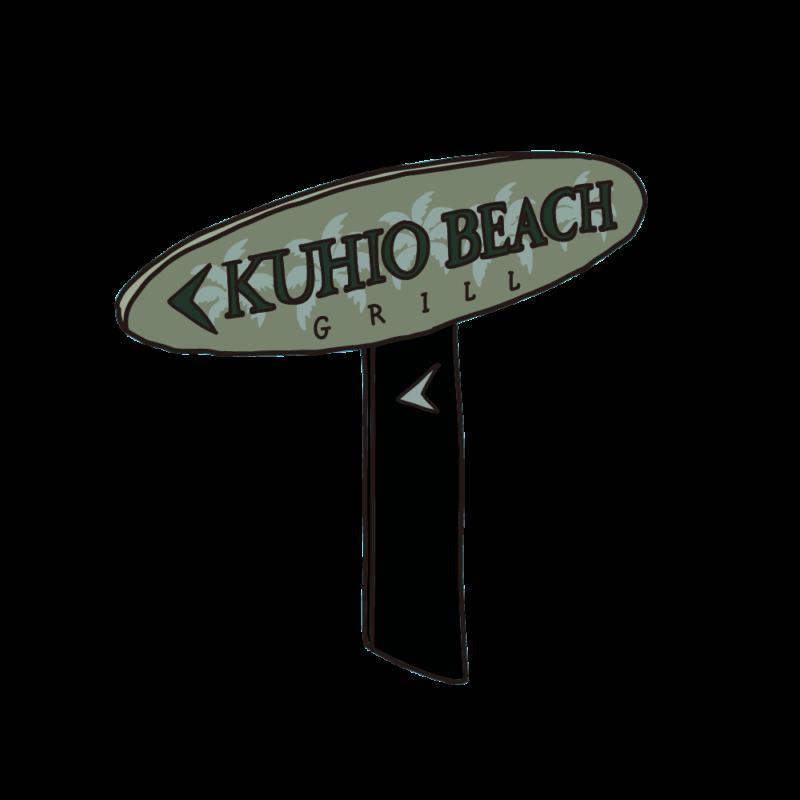 クヒオビーチの看板04