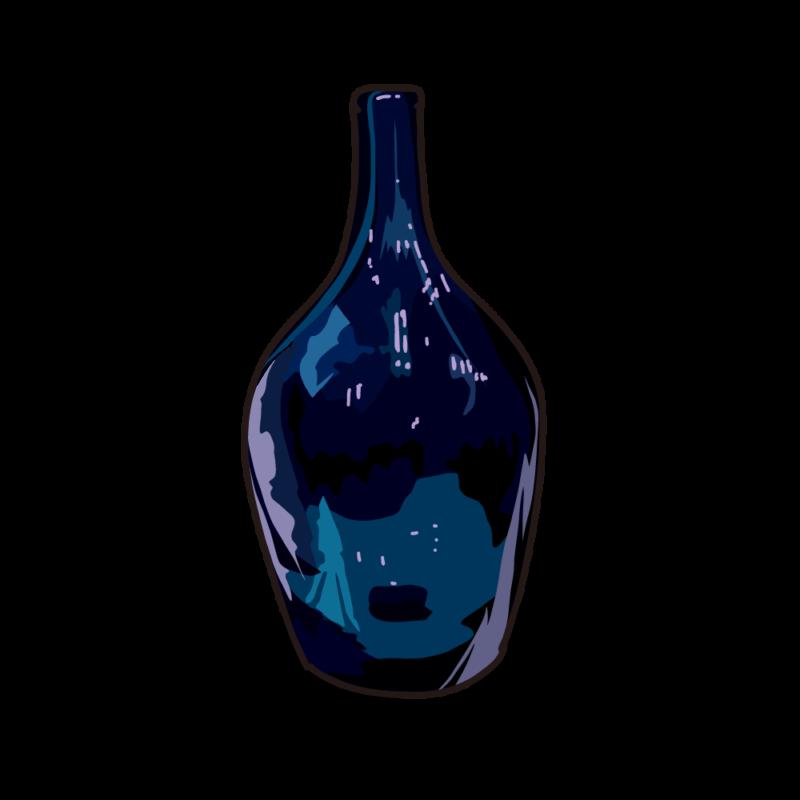 ブルーの瓶04