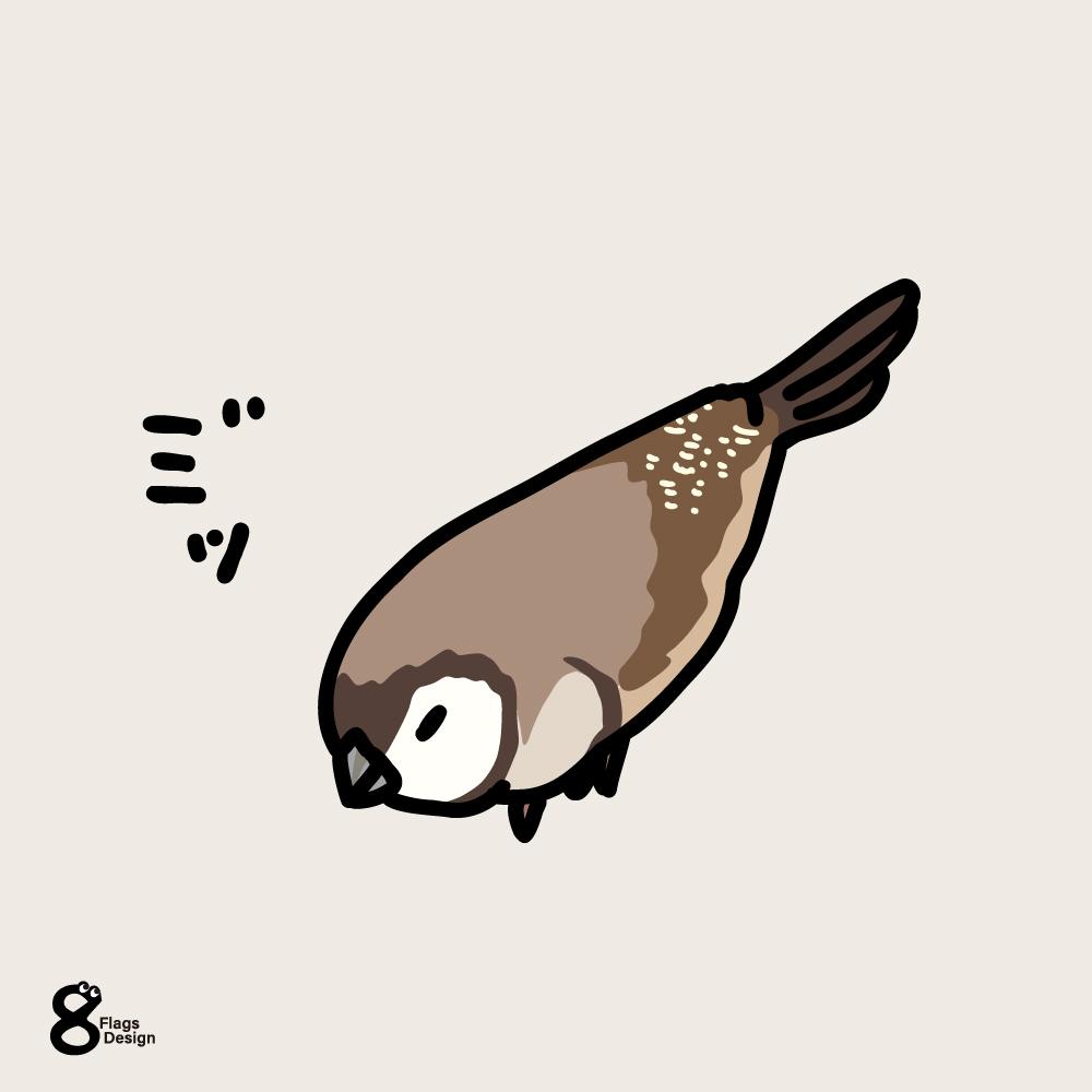 うずくまる鹿の子雀のキャッチ画像