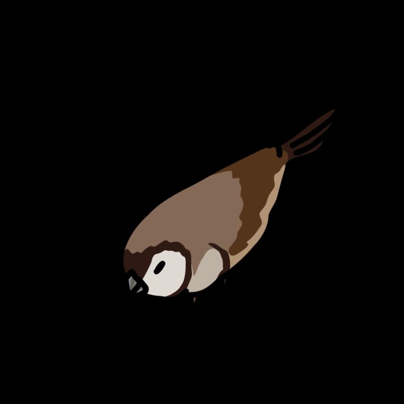 うずくまる鹿の子雀02
