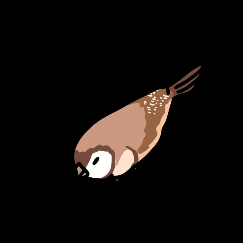 うずくまる鹿の子雀04
