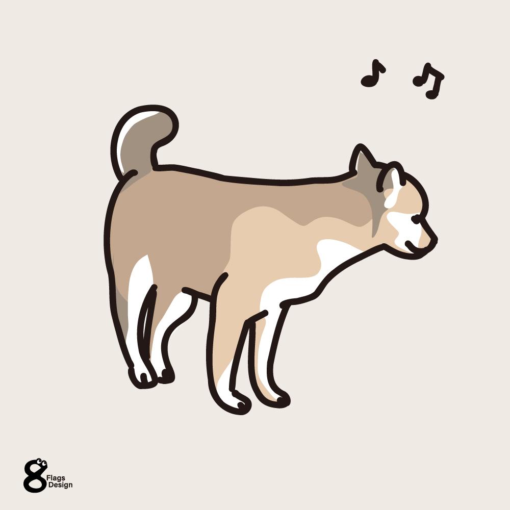 ご機嫌の仔犬のキャッチ画像